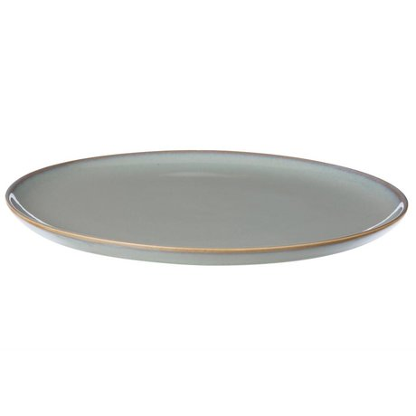 Ferm Living Board tray Neu gray stone glazed large ø28cm