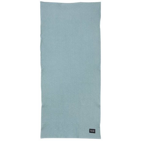 Ferm Living Dusty blue organic cotton bath towel 70x140cm