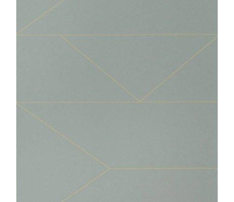 Ferm Living Lignes de papier peint gris10x0.53m avec numéro de lot 1