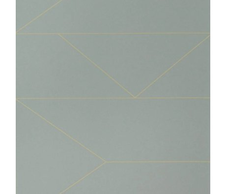 Ferm Living Wallpaper Lines gray 10x0.53m with batch number 1