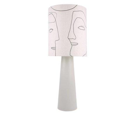 HK-living Lampenkap Faces naturel katoen Ø36x42cm