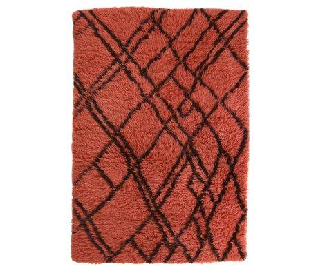 HK-living Tapis Berber laine rouge 120x180cm