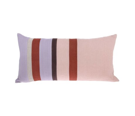 HK-living Throw pillow Striped C multicolour linen 70x35cm