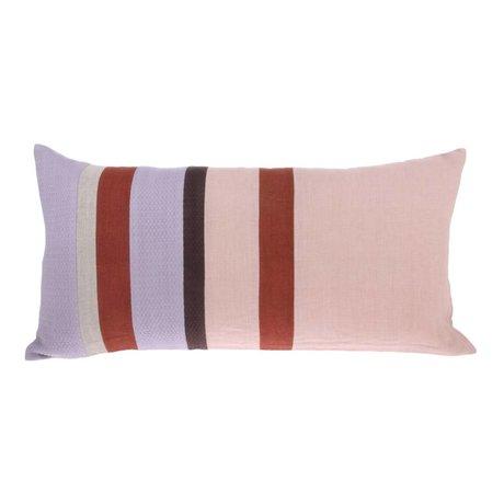 HK-living Cushion Striped C multicolour linen 70x35cm