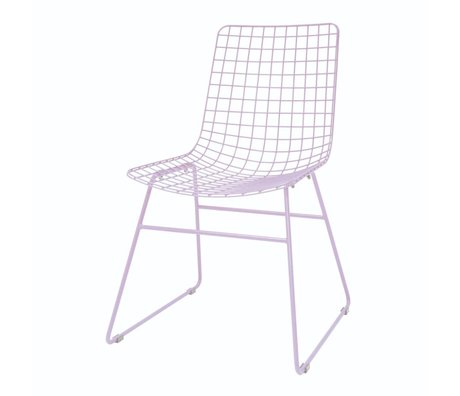 HK-living Dining chair Wire lilac metal 47x54x86cm