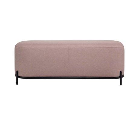 HK-living Hocker alt rosa Textilstahl 120x40x45cm