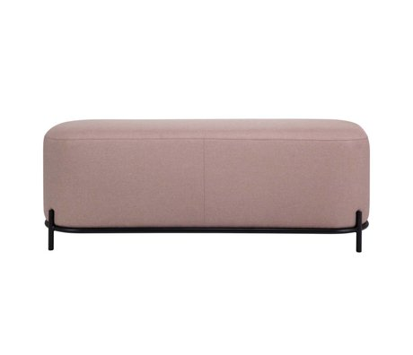 HK-living Poef oud roze textiel staal 120x40x45cm