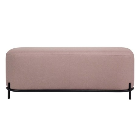 HK-living Pouf old pink textile steel 120x40x45cm