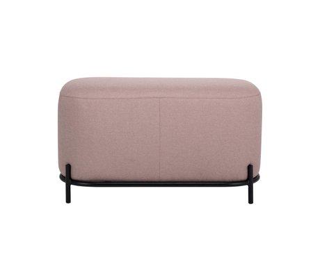 HK-living Poef oud roze textiel staal 80x40x45cm