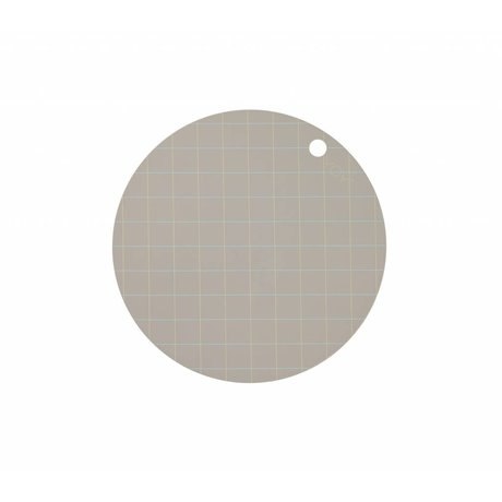 OYOY Placemat Hokei gray silicone Ø39x0.15cm set of 2