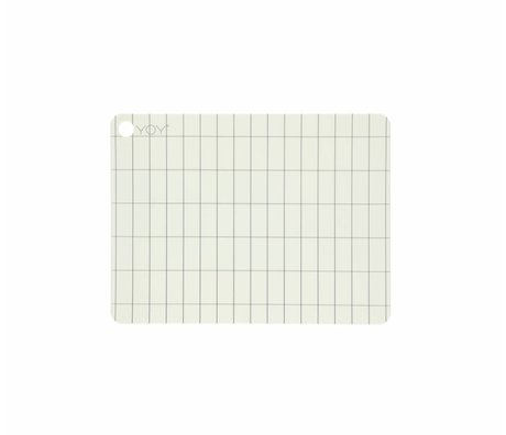 OYOY Placemat Kukei broken white silicone 45x34x0.15cm set of 2