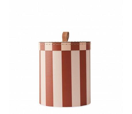 OYOY Boîte de rangement Petite boîte de rangement en carton rose aubergine Ø17x20cm
