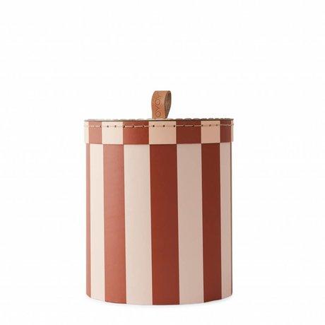 OYOY Aufbewahrungsbox Aufbewahrungsbox kleine Rose Auberginenpappe Ø17x20cm