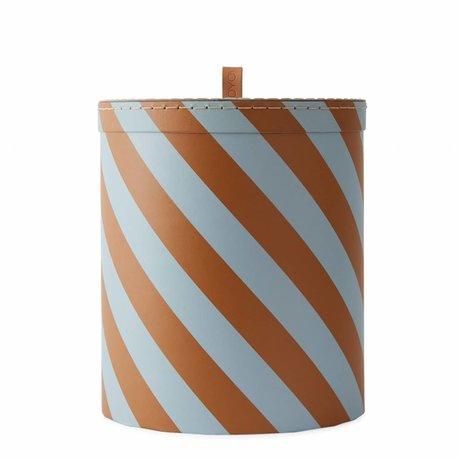 OYOY Boîte de rangement Carton moyen orange bleu Ø23x26cm