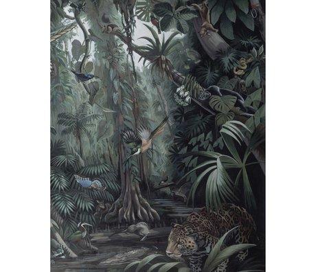 KEK Amsterdam Wallpaper panel Tropical Landscape green non-woven wallpaper 142,5x180cm