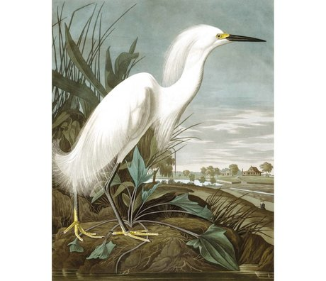 KEK Amsterdam Papier peint Panneau Snowy Heron papier peint intissé multicolore 142,5x180cm