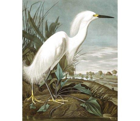 KEK Amsterdam Wallpaper Panel Snowy Heron mehrfarbige Vliestapete 142,5x180cm