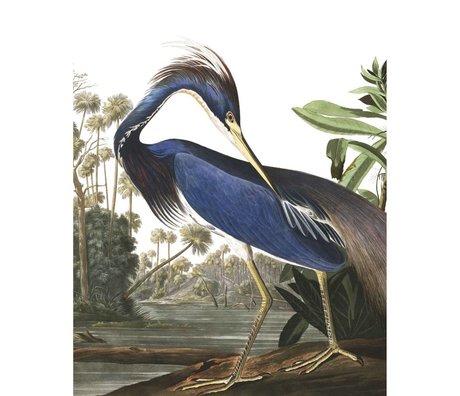 KEK Amsterdam Tapetenpaneel Louisiana Heron mehrfarbige Vliestapete 142,5x180cm