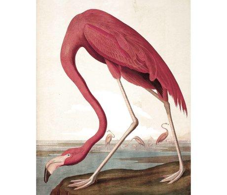KEK Amsterdam Panneau de papier peint Flamingo tissé multicolore 142,5x180cm