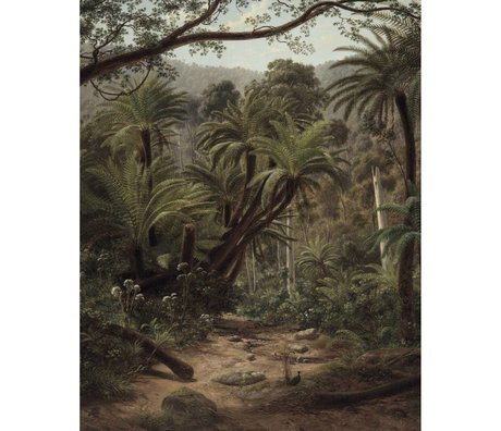 KEK Amsterdam Wallpaper panel Palm Trees green non-woven wallpaper 142,5x180cm