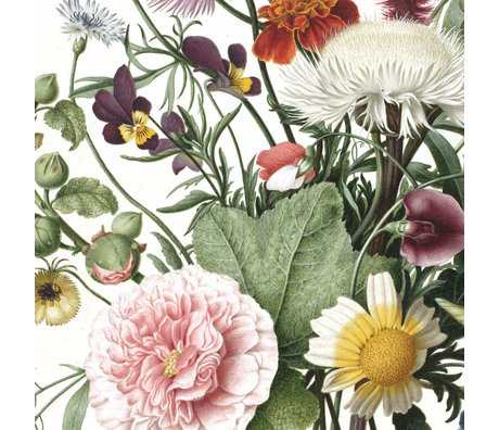 KEK Amsterdam Wallpaper panel Wild Flowers multicolour non-woven wallpaper 142.5x180cm