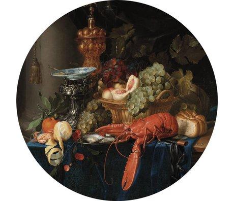 KEK Amsterdam Tapete Circle Lobster mehrfarbig gewebte Tapete ø190cm