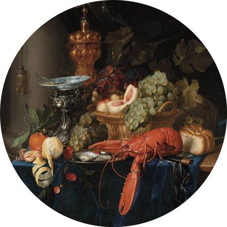 KEK Amsterdam Tapete Circle Lobster mehrfarbige Vliestapete ø190cm