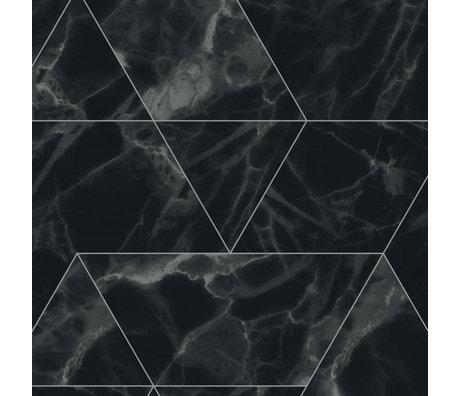 KEK Amsterdam Papier peint intissé Marble Mosaic noir 97,4x280cm (2 feuilles)