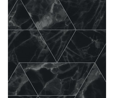 KEK Amsterdam Wallpaper Marble Mosaic black non-woven wallpaper 97,4x280cm (2 sheets)