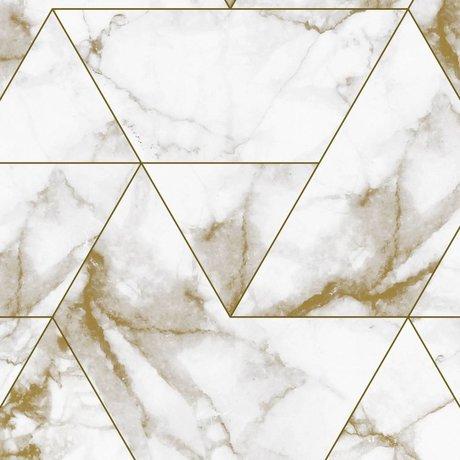 KEK Amsterdam Tapete Marmor Mosaik Gold Vliestapete 97,4x280cm (2 Blatt)