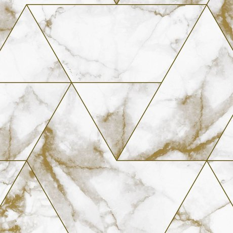 KEK Amsterdam Wallpaper Marble Mosaic gold non-woven wallpaper 97,4x280cm (2 sheets)
