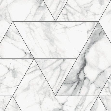 KEK Amsterdam Papier peint intissé Marble Mosaic blanc 97,4x280cm (2 feuilles)