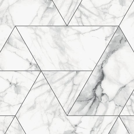 KEK Amsterdam Tapete Marmor Mosaik weiße Vliestapete 97,4x280cm (2 Blätter)