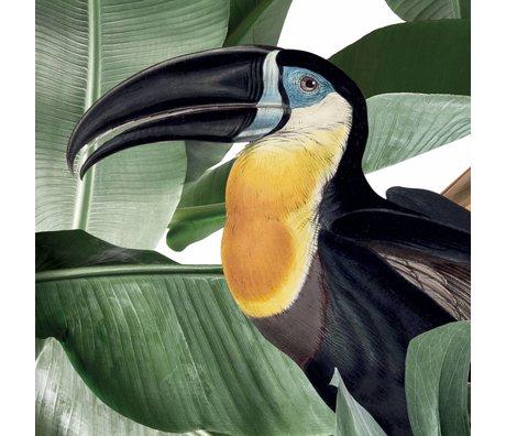 KEK Amsterdam Tapete Botanical Birds weiße Vlies-Tapete 97,4 x 280 cm (2 Blatt)