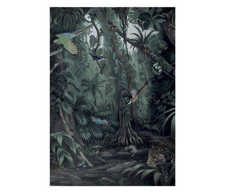 KEK Amsterdam Tapete Tropische Landschaften grüne Vliestapete 194,8x280cm (4 Blätter)