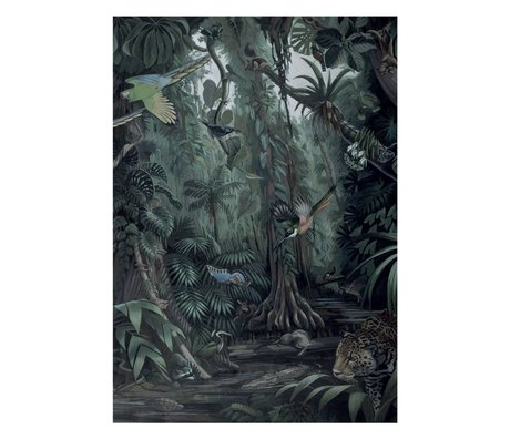 KEK Amsterdam Wallpaper Tropical Landscapes green non-woven wallpaper 194,8x280cm (4 sheets)