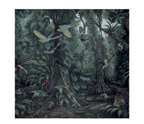 KEK Amsterdam Tapete Tropische Landschaften grüne Vlies-Tapete 292,2 x 280 cm (6 Blatt)