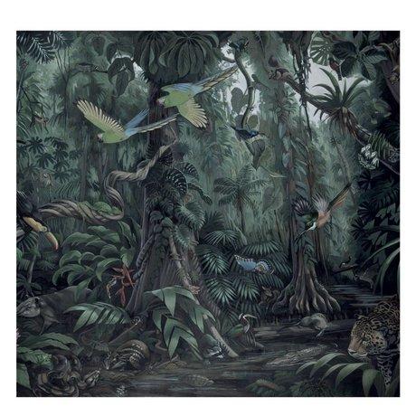 KEK Amsterdam Tapete Tropical Landscapes grün Vliestapete 292.2x280cm (6 Blatt)