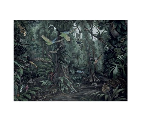 KEK Amsterdam Wallpaper Tropical Landscapes green non-woven wallpaper 389.6x280cm (8 sheets)