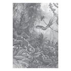 KEK Amsterdam Tapete Tropical Landscapes schwarz-weiß Vliestapete 194,8x280cm (4 Blatt)
