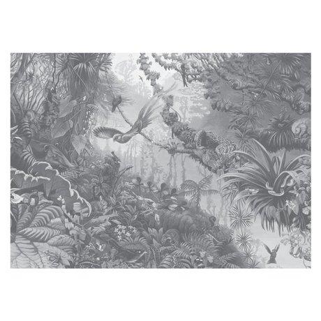 KEK Amsterdam Papier Peint Papier Peint intissé Tropical Landscapes noir et blanc 389.6x280cm (8 feuilles)