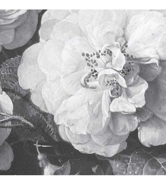 Kek Amsterdam Wallpaper Golden Age Flowers Black White Non Woven