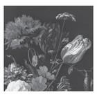 KEK Amsterdam Behang Golden Age Flowers zwart wit vliesbehang 292,2x280cm (6 sheets)