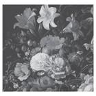 KEK Amsterdam Papier peint Golden Age Flowers noir blanc papier peint intissé 292,2x280cm (6 feuilles)
