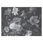 KEK Amsterdam Tapete Golden Age Flowers schwarz weiß Vliestapete 389,6x280cm (8 Blatt)