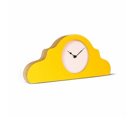 KLOQ Pendule jaune jaune rose noire 380x168x42cm