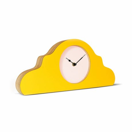 KLOQ Mantel clock yellow pink black 380x168x42cm