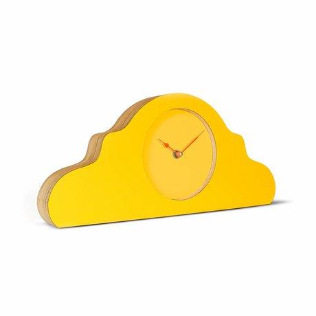 KLOQ Pendule jaune orange bois 380x168x42cm