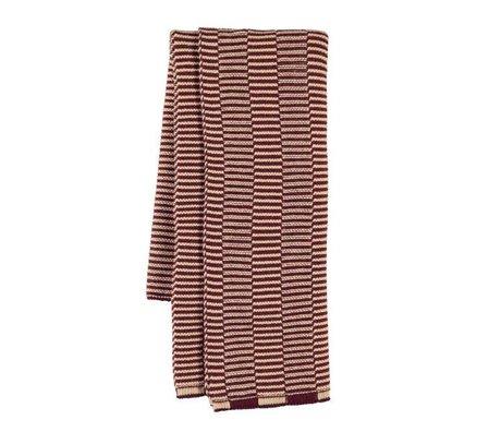 OYOY Tea towel Stringa aubergine rose cotton 38x58cm