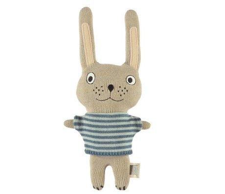 OYOY Câlin bébé lapin Félix multicolore en coton 26x20cm